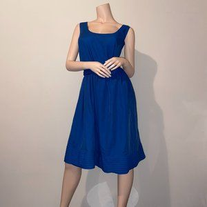 TEVOLIO BLUE FIT & FLARE DRESS - 22W